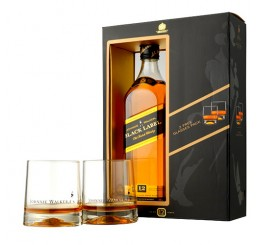 Johnnie Walker 12 Years Black Label - Pack with Glasses